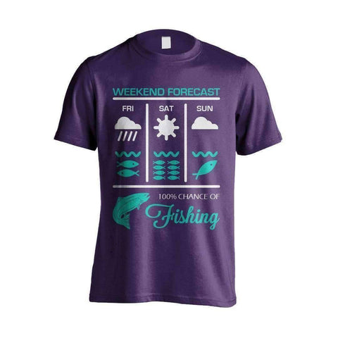 Image of Weekend Fishing Forecast T-Shirt