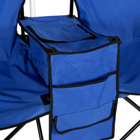 Double Folding Chair with Umbrella, Table and a Cooler
