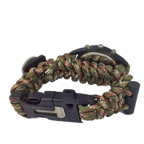 Image of Paracord Survival Bracelet Watch - OutdoorsAdventurer
