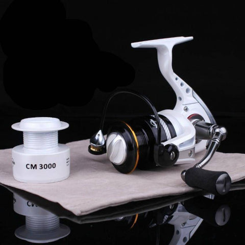 Metal Spinning Fishing Reel + Spare Spool