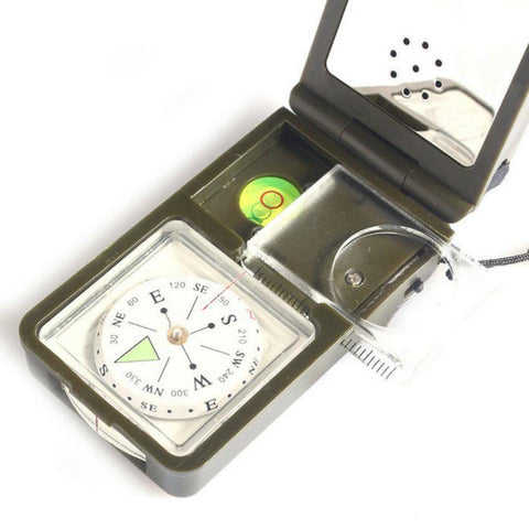 Image of Multifunction 10 in 1 Outdoor Military Compass - OutdoorsAdventurer