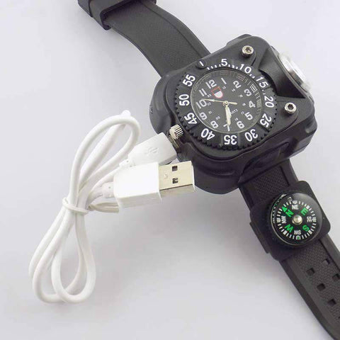 3 in1 Tactical LED Watch Flashlight - OutdoorsAdventurer