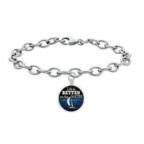 "Image of ""Life Is Better On The Water"" Sailing Bracelet - OutdoorsAdventurer"