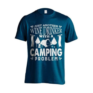 Wine Drinker Camping Problem T-Shirt