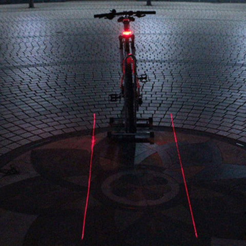 Image of Cycle Safety Bicycle Rear Lamp With Laser Tail Lights - OutdoorsAdventurer