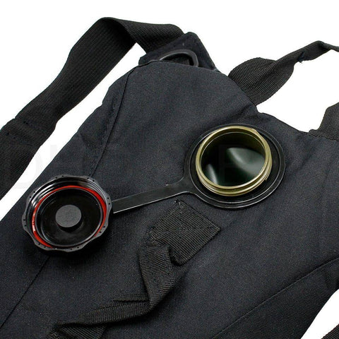2L Hydration System Survival Bag - Black INPUT OUTPUT
