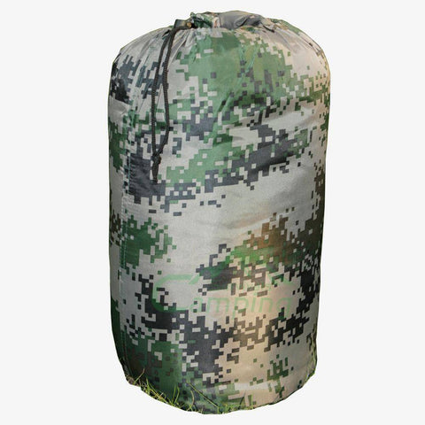 Image of Disruptive Pattern Mummy Shaped Sleeping Bag CARRY BAG