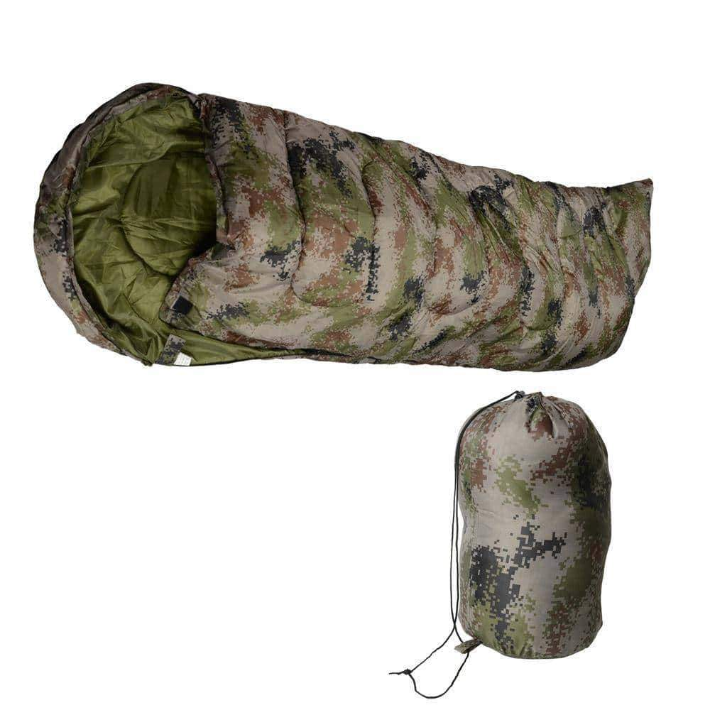 Disruptive Pattern Mummy Shaped Sleeping Bag