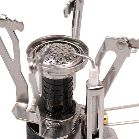Image of Portable Gas Burner With Mini Steel Stove & Case burner