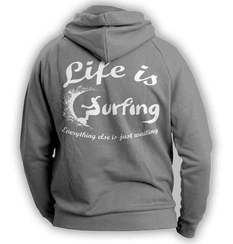 """Life Is Surfing"" Hoodie - OutdoorsAdventurer"