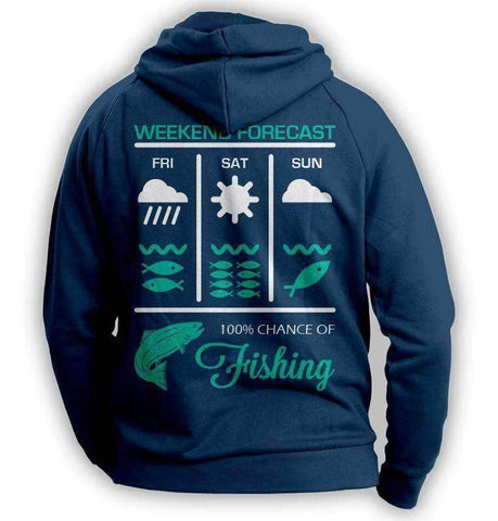 Weekend Fishing Forecast Hoodie