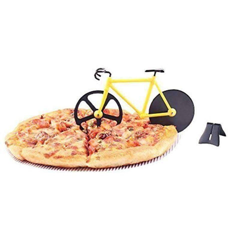 Image of Stainless Steel Bicycle Pizza Cutter - OutdoorsAdventurer