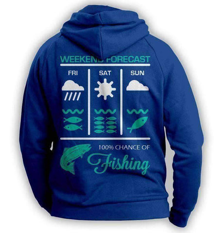 Image of Weekend Fishing Forecast Hoodie