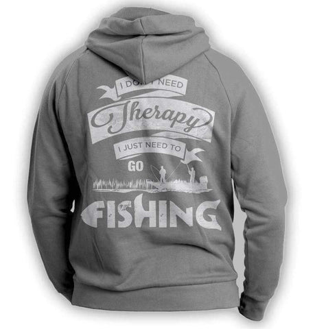 "Image of ""I Don't Need Therapy, I Just Need To Go Fishing"" Hoodie - OutdoorsAdventurer"