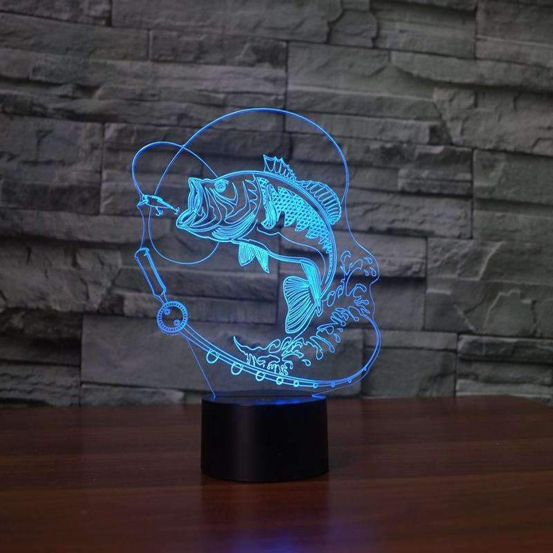 3D Fish LED Lamp