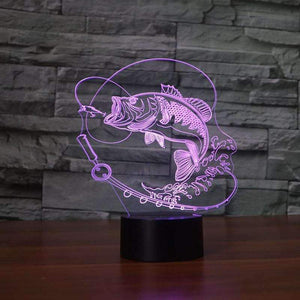 3D Fish LED Lamp - OutdoorsAdventurer