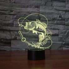Load image into Gallery viewer, 3D Fish LED Lamp - OutdoorsAdventurer