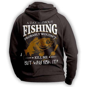 Fishing Angler Casting Jigging Hoodie Outdoors Adventurer