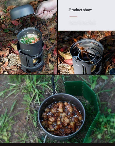 7 in 1 Portable Outdoor Cookware
