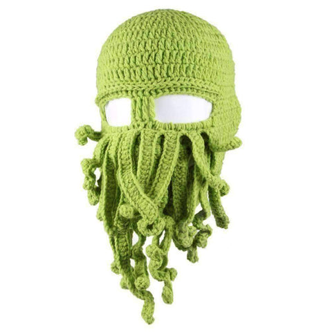 Barbarian Beard Beanie Octopus Knitted Hat