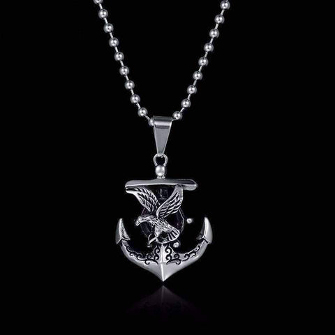 Anchor Viking Sailing Necklace
