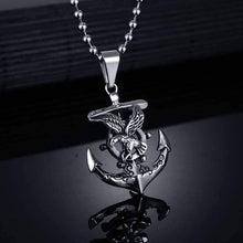 Load image into Gallery viewer, Anchor Viking Sailing Necklace - OutdoorsAdventurer