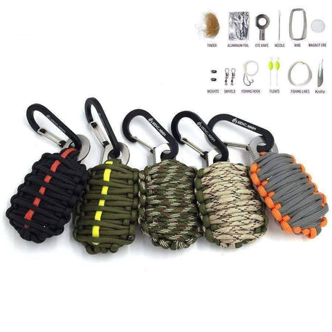 Paracord  Carabiner Outdoor Survival Tool - OutdoorsAdventurer