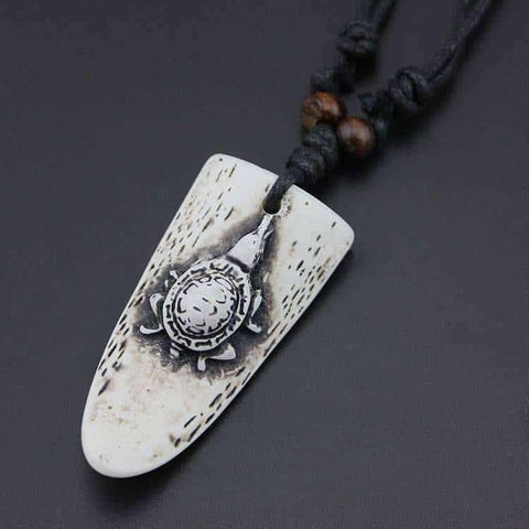 Image of Hand Carved Surfer Necklace - OutdoorsAdventurer
