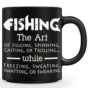The Art Of Fishing Mug - OutdoorsAdventurer