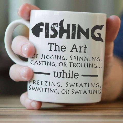 Image of The Art Of Fishing Mug - OutdoorsAdventurer