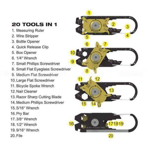 20 In 1 Outdoor Tool