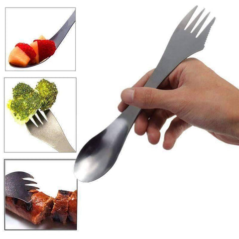 3 in 1 Spork Spoon Fork Cutlery Utensil - OutdoorsAdventurer