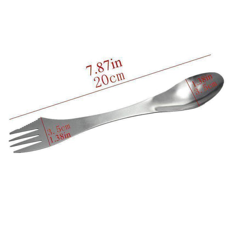 Image of 3 in 1 Spork Spoon Fork Cutlery Utensil - OutdoorsAdventurer