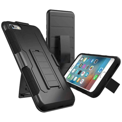 Military Black Armor iPhone Case - OutdoorsAdventurer
