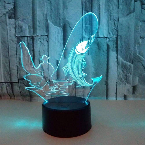 Image of 3D LED Fishing Lamp - OutdoorsAdventurer