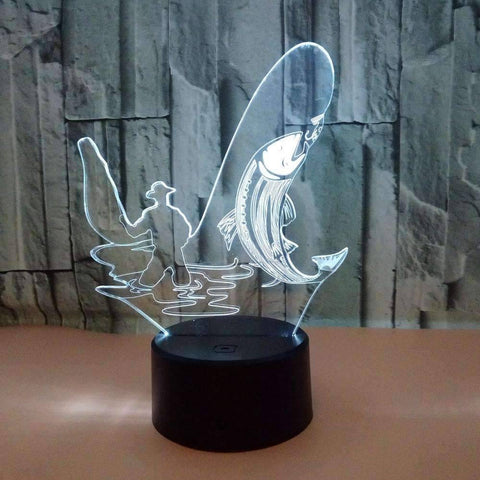 3D LED Fishing Lamp - OutdoorsAdventurer