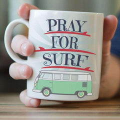 """Pray For Surf"" Surfing Mug"