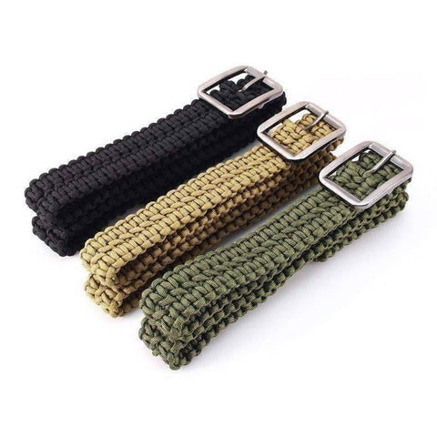 Outdoor Survival Paracord Belt