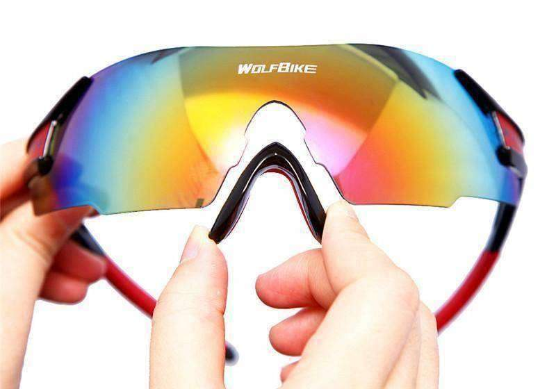WOLFBIKE 2015 UV Protective Cycling Sunglasses