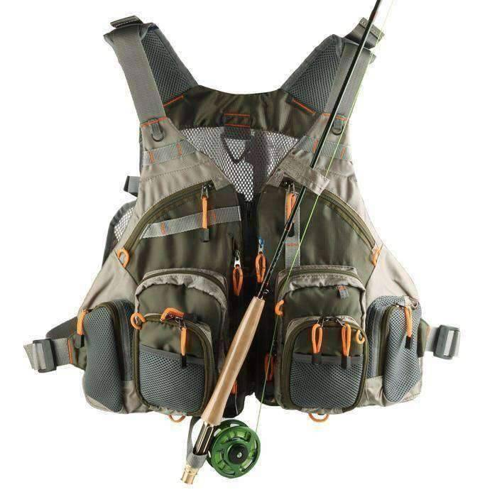 Fishing Vest With Rod Holder