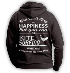 You Can't Buy Happiness Kite Surfing Hoodie