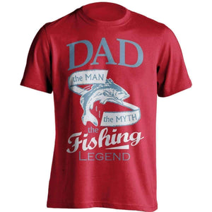 """Dad, The Man, The Myth, The Fishing Legend"" T-Shirt - OutdoorsAdventurer"