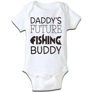 """Daddy's Future Fishing Buddy"" Baby Grow - OutdoorsAdventurer"
