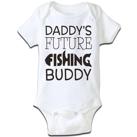 """Daddy's Future Fishing Buddy"" Baby Grow"