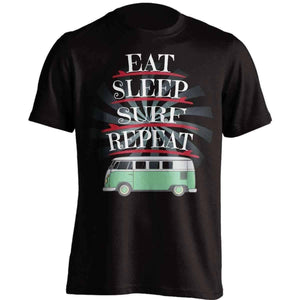 """Eat Sleep Surf Repeat"" Surfing T-Shirt - OutdoorsAdventurer"