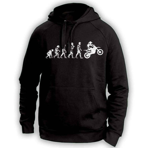 Human Evolution Dirt Bike Hoodie