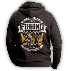 """Don't Bother Me While I'm Fishing..."" Fishing Hoodie"