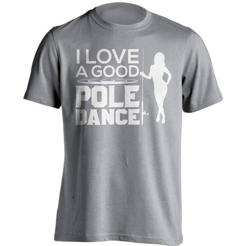 "Image of ""I Love A Good Pole Dance"" Fishing T-Shirt"