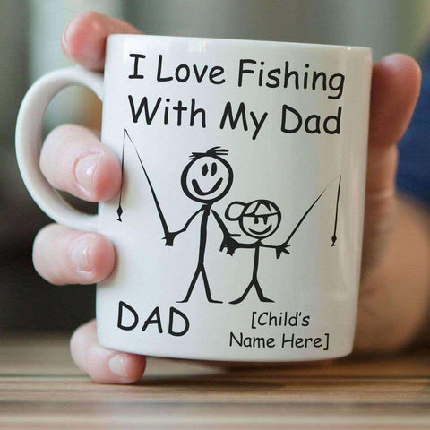 Image of ''I Love Fishing With My Dad'' Personalized Mug - OutdoorsAdventurer