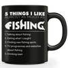 Image of 5 Things I Like Almost As Much As Fishing Mug (Beer)